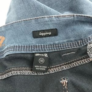 Seven7 Jeans - Seven7 Stretch Denim Midrise Jeans Jeggings 10